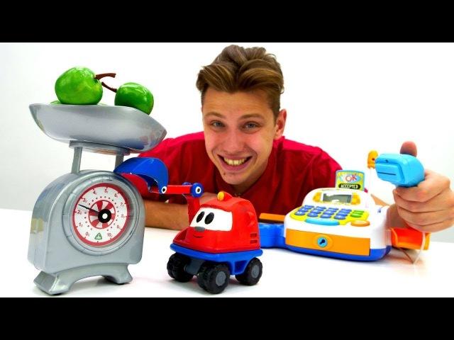 Видео для детей Профессия продавец Веселая школа с игрушками
