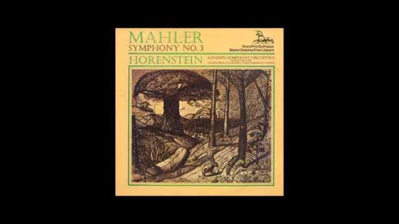 Mahler 3éme Symphony Horenstein Langsam Ruhevoll Empfunden