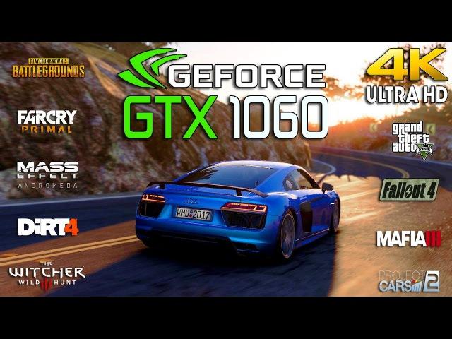 GTX 1060 Test 9 Games in 4K (i5 8600k)