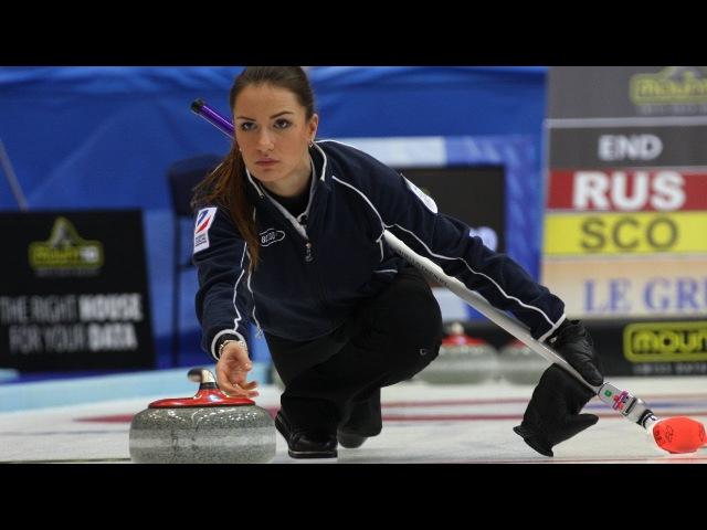 CURLING: RUS-SWE Euro Chps 2013 - Women Draw 3