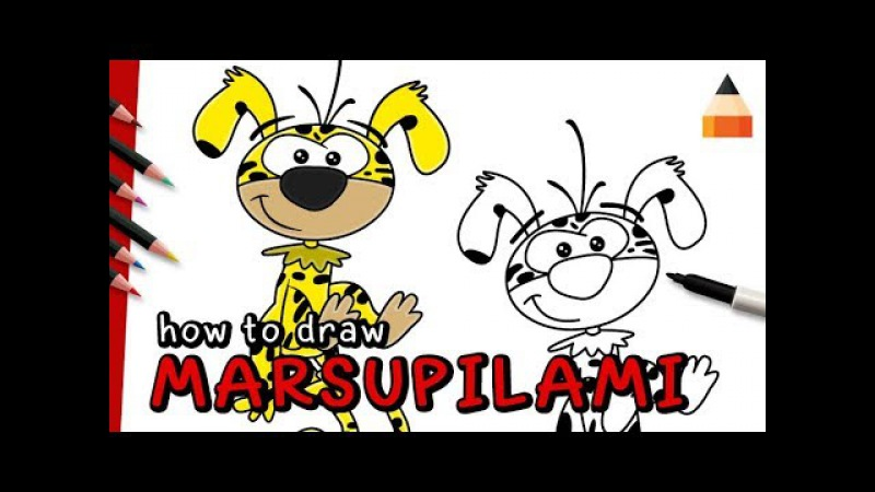 How To Draw Marsupilami
