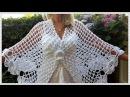 🌼2 Gehaakte omslagdoek/stola. Crochet shawl/wrap. Шаль/накидка для невесты крючком.