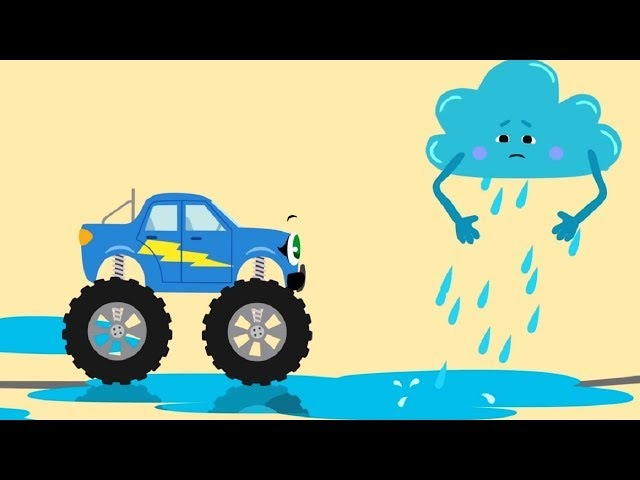 Мультики про машинки - БИБИКА - Облачка погоды: Гроза, Туман, Град, Снег - Развивающие мультфильмы