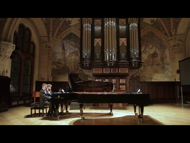 Edvard Grieg - Norwegian Dances op. 35 for piano four hands (Dombrova Piano Duo)