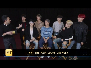 [video] #btsxet what's the reason behind @bts_twt's latest hair color change?