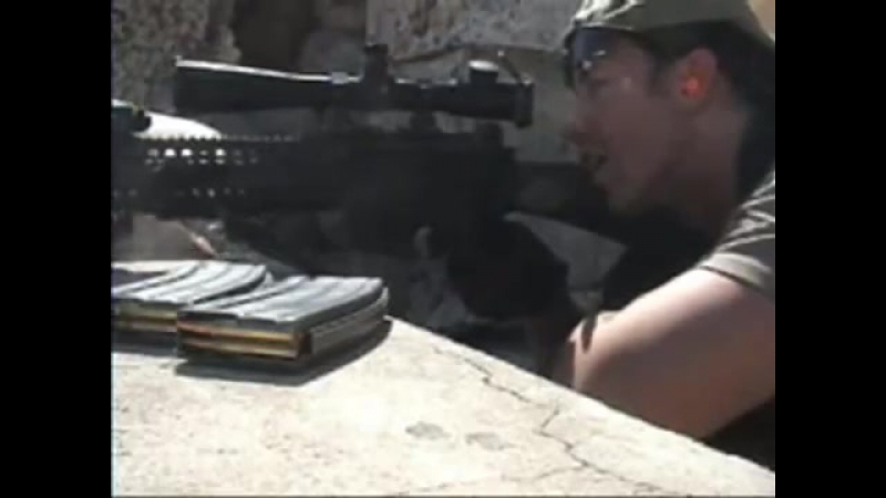 Pt 1 AMAZING VIDEO Sniper Blackwater Commando in Iraq shoots insurgents