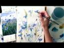 """Speed painting из урока """"Лето в поле. Васильки """" от Елены Мороз"""