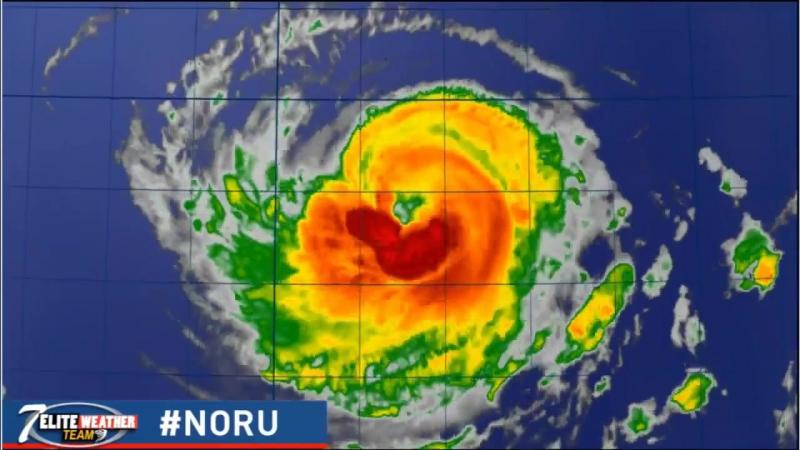 Тайфун Нору в Тихом океане (Aesthetic)