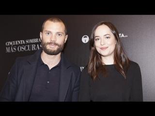 Интервью Джейми Дорнана и Дакоты Джонсон/промо на 50 оттенков темнее в Мадриде русские субтитры