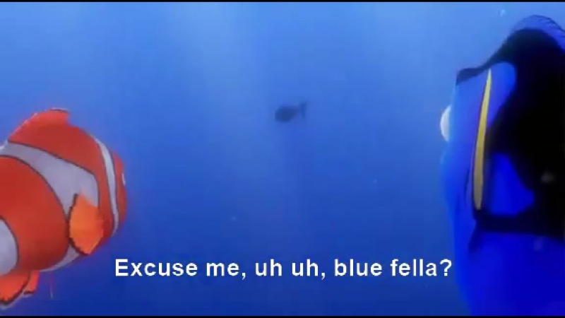 Finding Nemo Dory speaking whale SUBTITLES