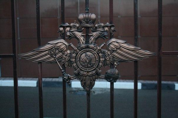 Орлы на заборе здания МВД