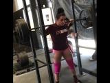 Айша Хейли приседает 170