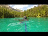 Freediving in Grüner See (Austria)