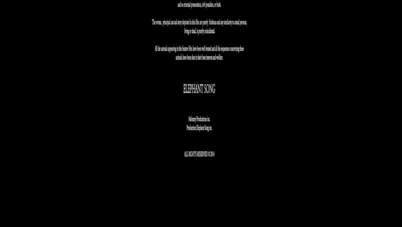 Песнь слона. 2014. Драма, триллер. Брюс Гринвуд, Ксавье Долан, Кэтрин Кинер, Кэрри-Энн Мосс.