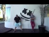 Deadmau5 & Marshmello murals — Villa Shangri-La, Las Vegas