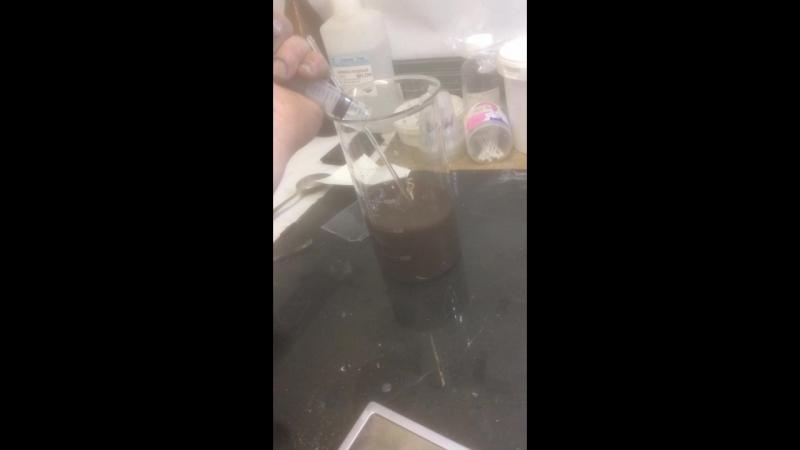 реакция при смешивании реагентов для получения серебрильного раствора