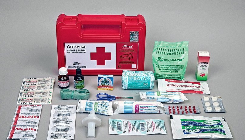 Содержимое аптечки первой посмощи
