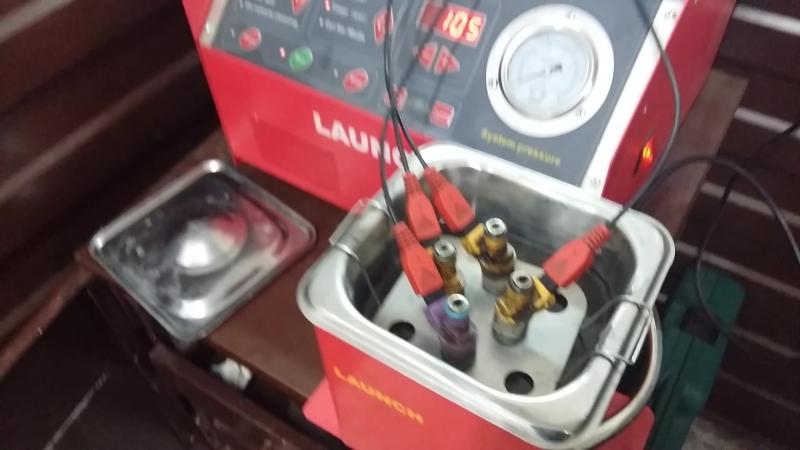 Промывка форсунок инжектора