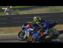 Столкновение Тито Рабата с Валентино Росси MotoGP, уорм-ап ГП Арагона