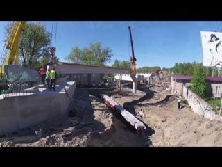 Первый этап строительства Гоголевского путепровода в Петрозаводске завершится в конце года