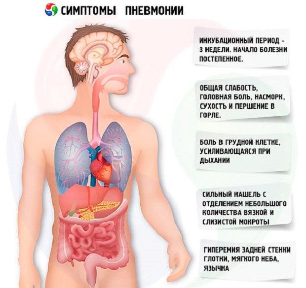 симптомы пневмании