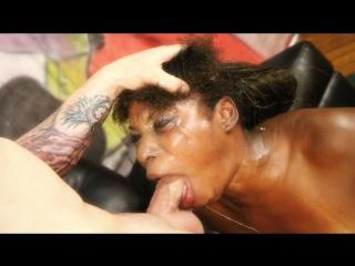 GhettoGaggers - Shae Spreadz | №378 /// Черномазой сучке досталось много унижений. Минет до рвоты, и ебля до конвульсий