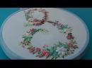 Hand Embroidery Monogram S Вышивка Монограмма S
