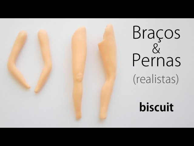 Braços e Pernas Realistas Porcelana Fria Pasta Flexible ✔ AULA 02 08