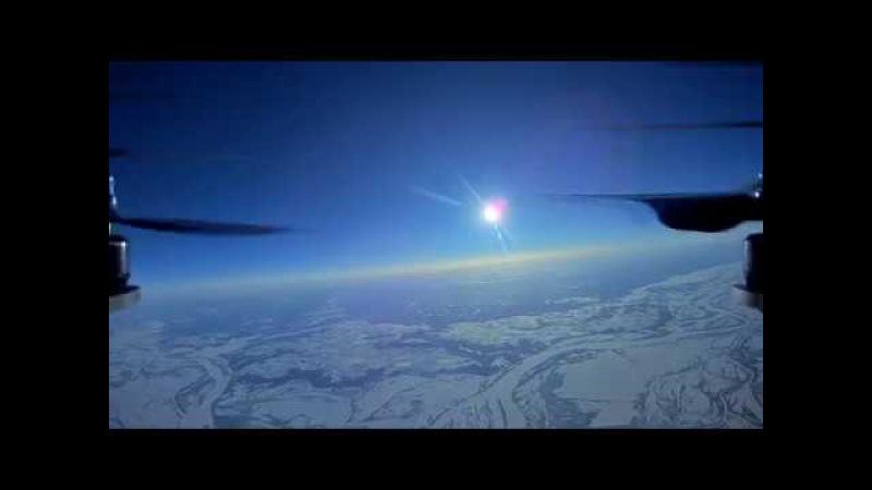 HD Квадрокоптер взлетел на высоту 8 4км High altitude drone flight FPV