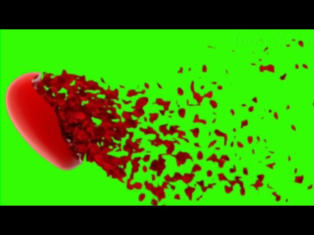Top Heart On Green Screen | Heart Activity | Buy Backdrop | Heart Shape| Green Video Footage