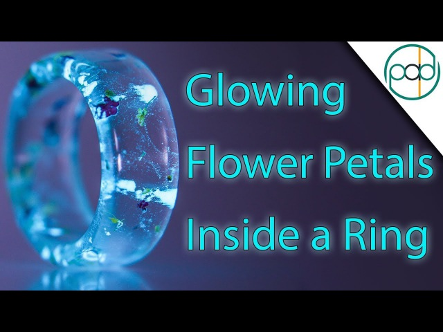 Making a Resin Cast Ring out of Glowing Flowers