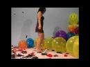 Sexy girl balloon fetish BTP SIT TO POP