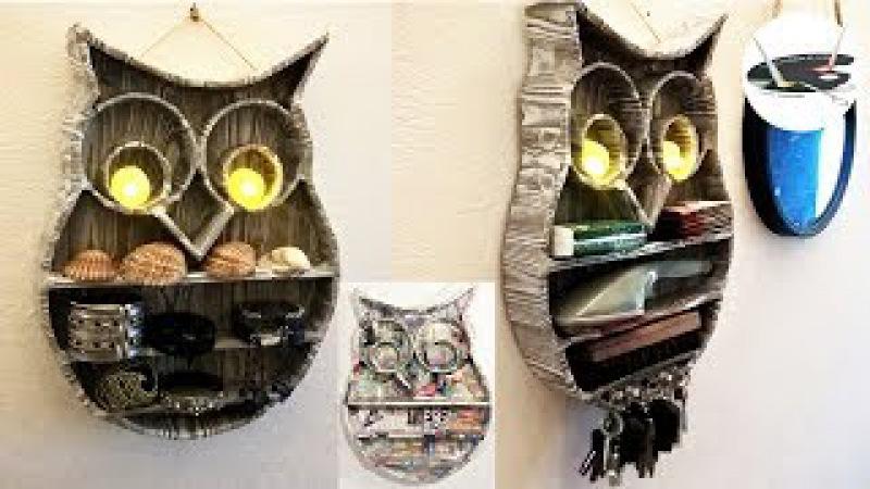 Tekturowa półka w kształcie sowy - Pomysły plastyczne dla każdego