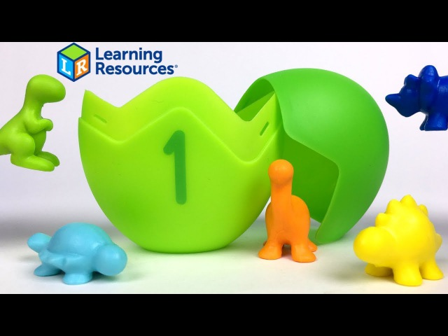 LEARNING RESOURCES LEARNING ESSENTIALS COUNTING DINO SORTERS MATH ACTIVITY SET - UNBOXING