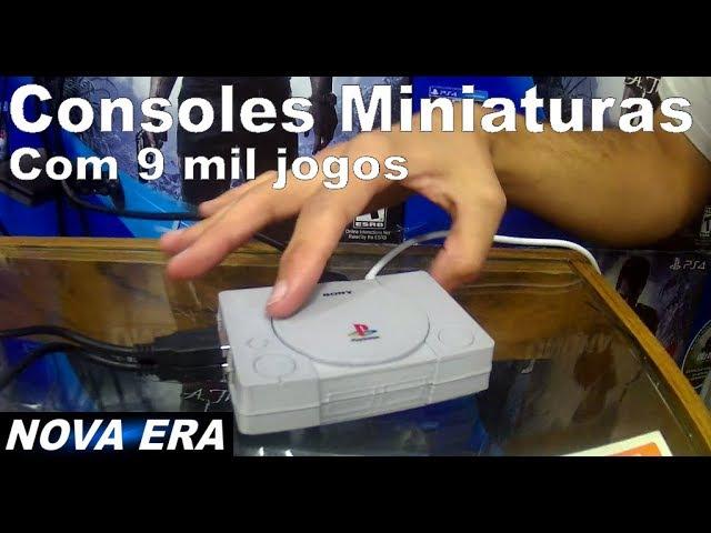 Mini Consoles Clássicos Miniaturas Retrô pie Raspberry 9 mil Jogos - Loja Nova Era Santa Efigênia SP