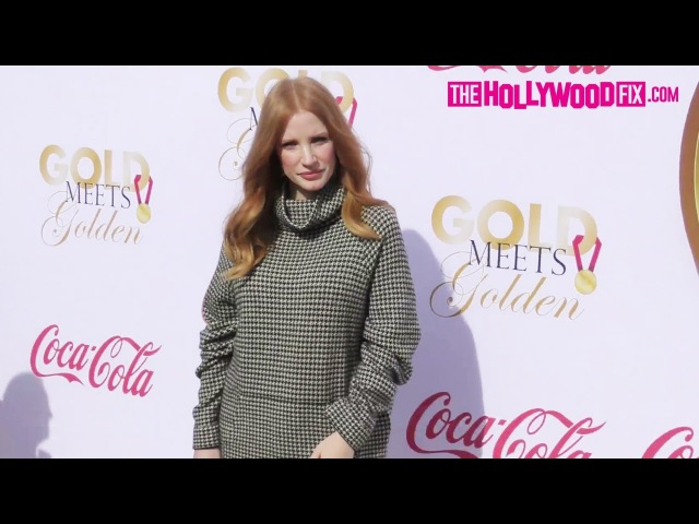Jessica Chastain Arrives To The Gold Meets Golden House On The Sunset Strip 1.6.18
