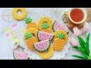 How to make FRUIT PLATTER COOKIES - Summer Fruit Cookie Tutorial