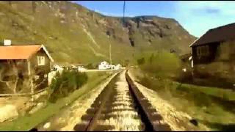 Виктор Цой. КИНО - Кончится лето. Train travel Norwegian nord rock remix