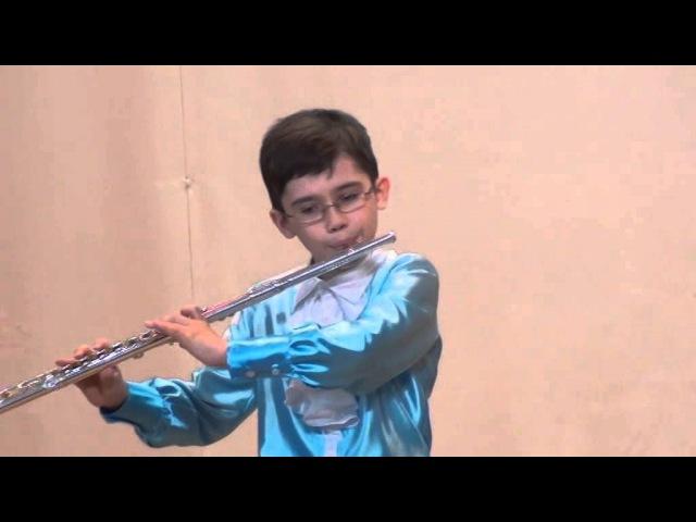 ИСТОМИН ЯН (флейта) ДМШ №1г.Владивостока 1 место конкурс Юный музыкант