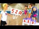 СОРЕВНОВАНИЯ ПО ГИМНАСТИКЕ Мультик Куклы Барби Про Школу Видео для девочек
