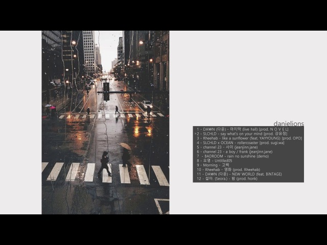 ♫ i'd fall for you like rain on pavement / korean underground rb (12 songs)