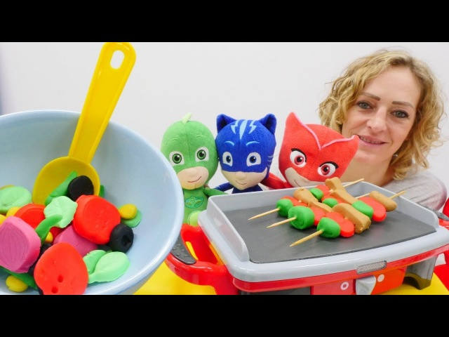 PJ Maskeliler mangal partisi yapıyorlar! Hamur oyunları.