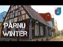 Winter in Pärnu, Estonia. Зима в летней столице Эстонии городе Пярну.