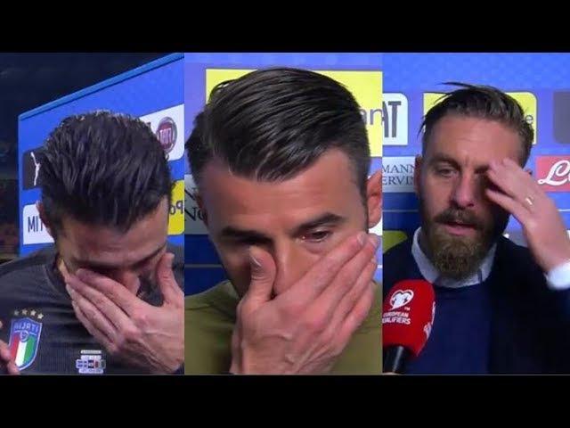 La commozione di BUFFON, BARZAGLI e DE ROSSI dopo ITALIA-SVEZIA 0-0