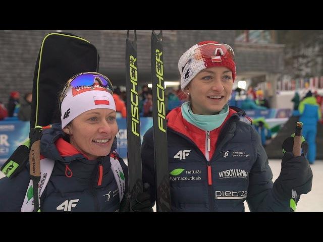 Моника Хойниш и Вероника Новаковска о 5 месте в эстафете (Рупольдинг 2018)