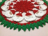 Toalha Natal redonda croch