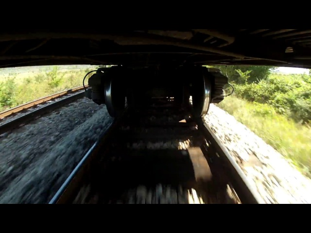 Undercarriage view @ 100 km/h (62 mph) with track joints sound