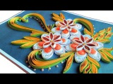quill Paper  How to Make Beautiful Quilling Flowers -Birthday Greeting Card PaperQuilling Art