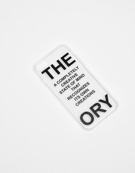 Прозрачный чехол с надписью для iPhone 7/7s