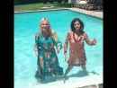 @laurabrown99: Selena and crazy lady get in pool fully clothed. #fashion #style #elbows @instylemagazine #selenagomez